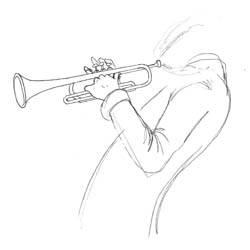 study of trumpet player
